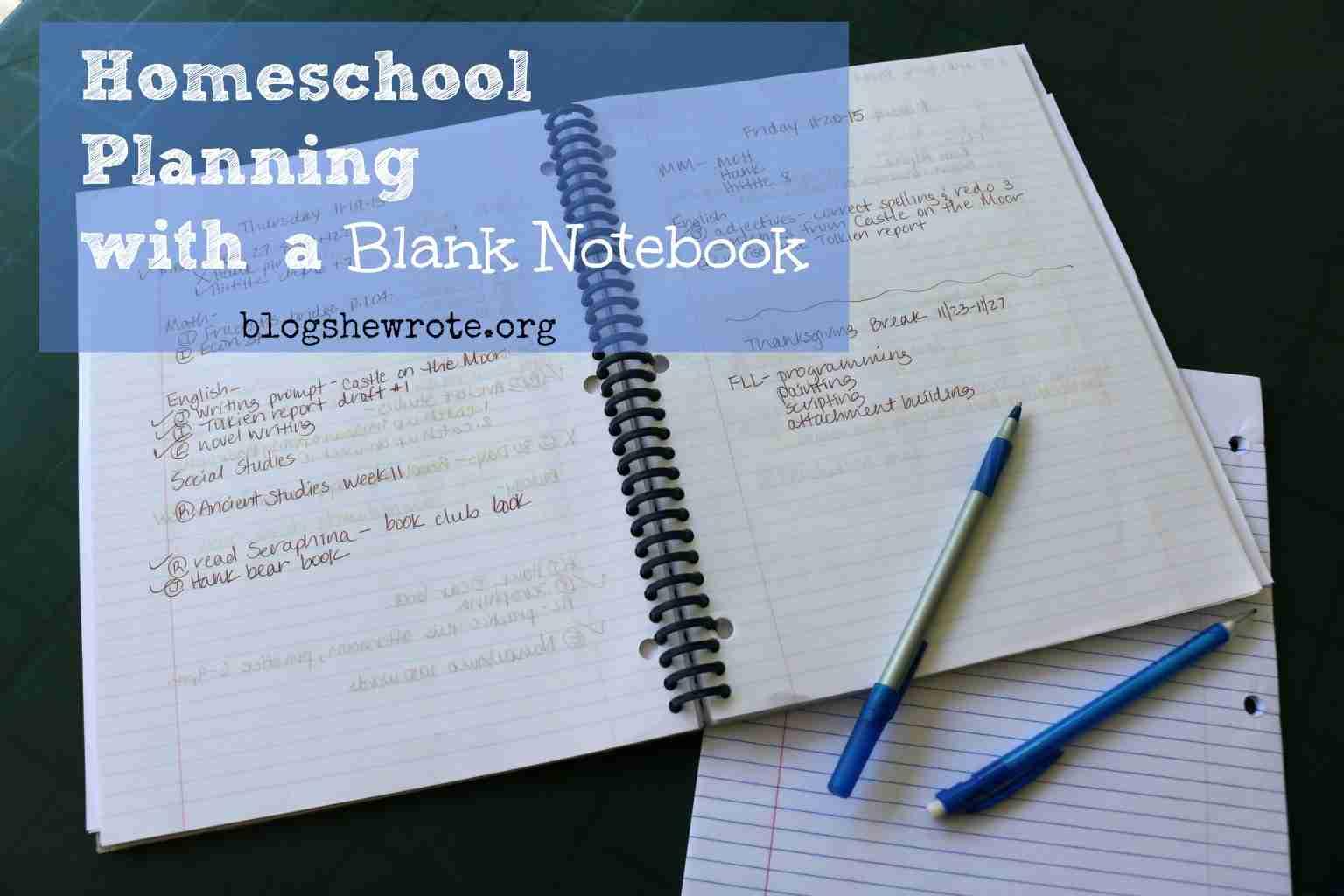 Calendar Notebook Homeschool : Homeschool planning with a spiral notebook she wrote