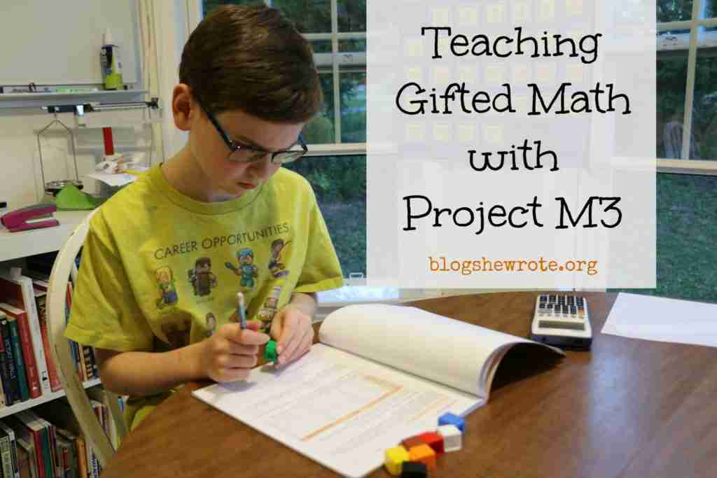Teaching Gifted Math with Project M3