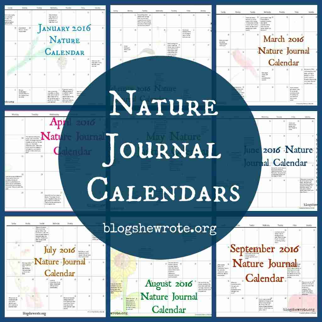 Nature Journal Calendars