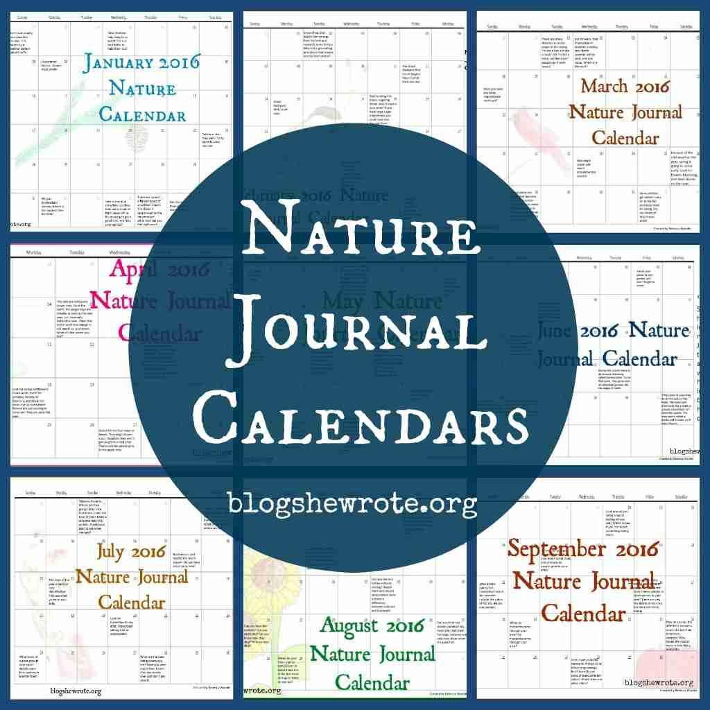 Nature Journal Calendars