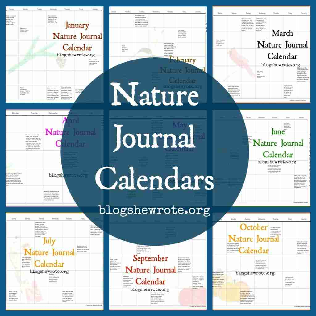 Nature Journal Calendars - Blog, She Wrote