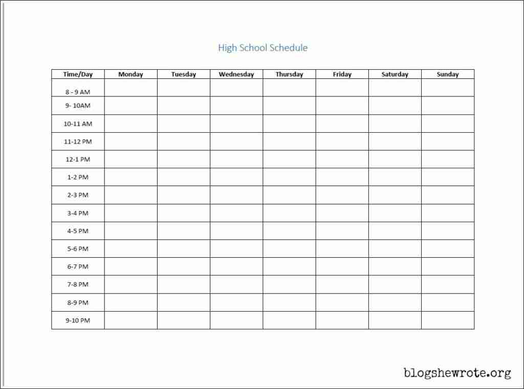 Strategies for Scheduling High School