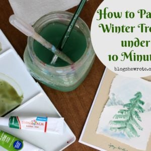 How to Paint a Winter Tree in Under 10 Minutes