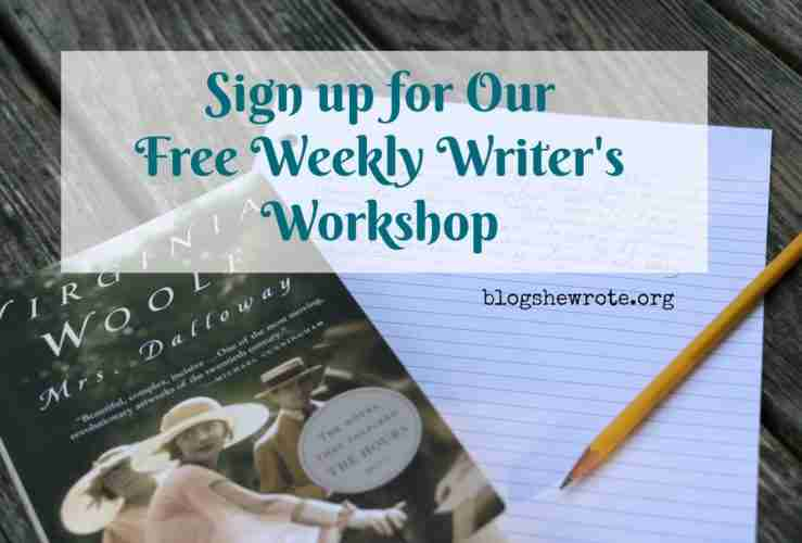 Join Our Weekly Writer's Workshop