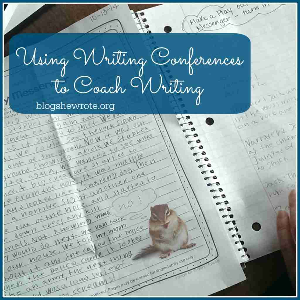 Using Writing Conferences to Coach Writing-student writing sample on a desk