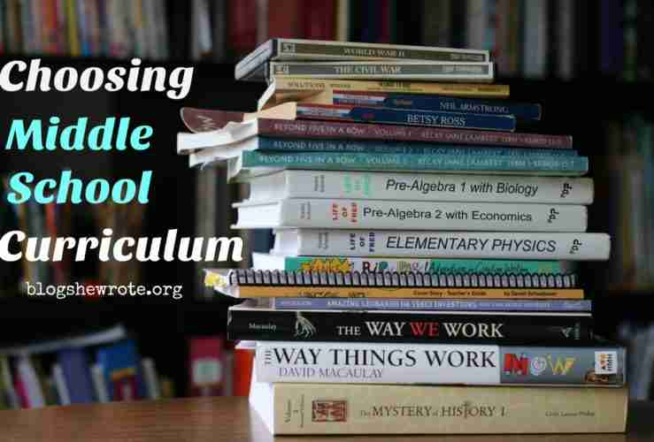 Choosing Middle School Curriculum