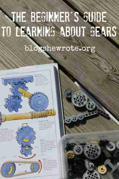 gears on a wood with a book about gears