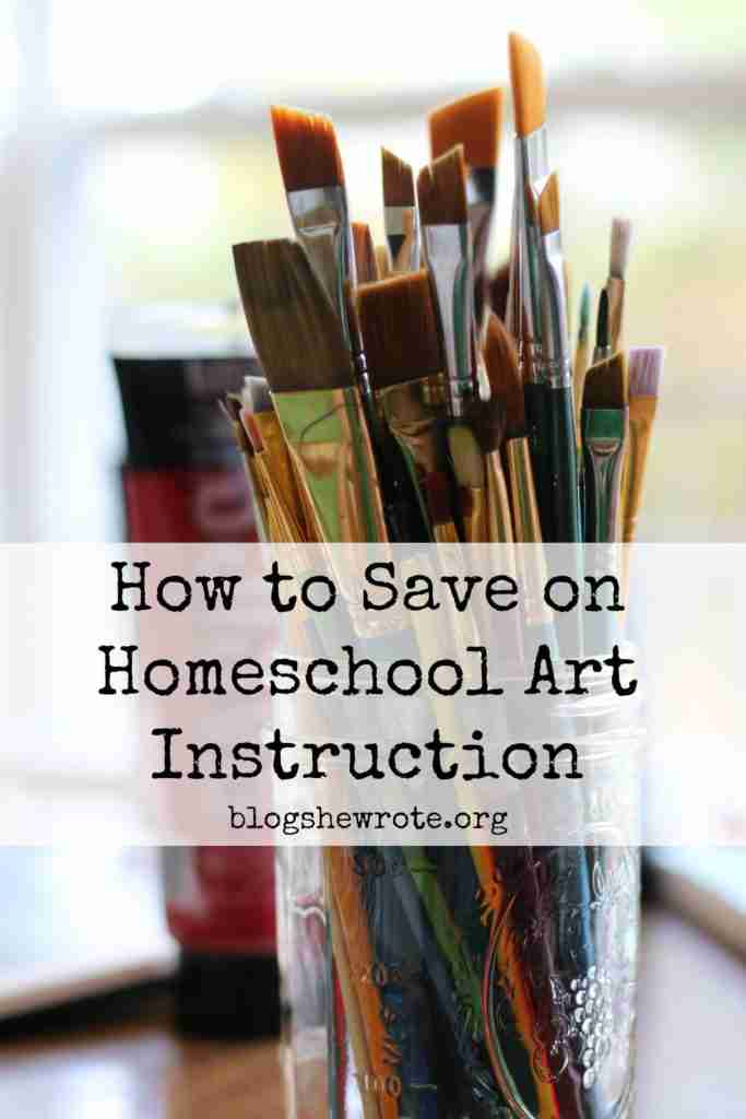 How to Save on Homeschool Art Instruction