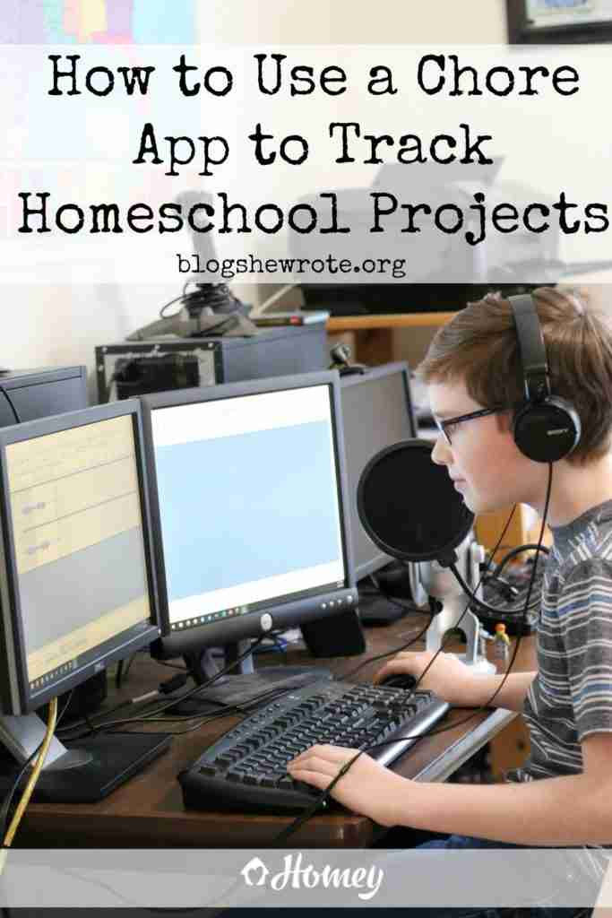 How to Use a Chore App to Track Homeschool Projects