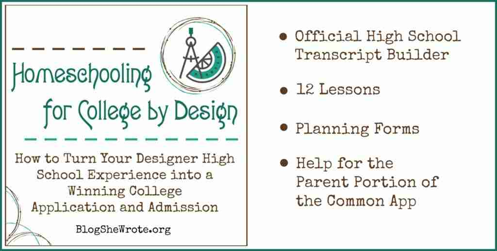 Homeschooling For College By Design Course Blog She Wrote