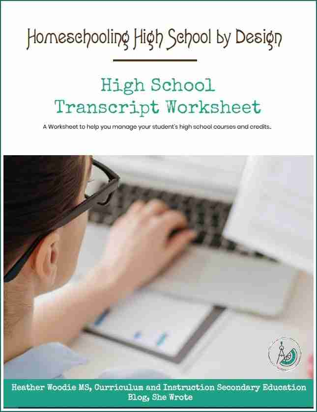 Homeschooling High School Transcript Worksheet eBook Blog She Wrote