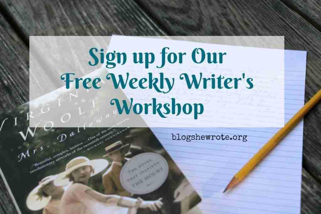 Writer's Workshop Sign Up