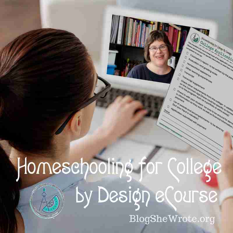 a woman holding a form and watching a video from Homeschooling for College by Design