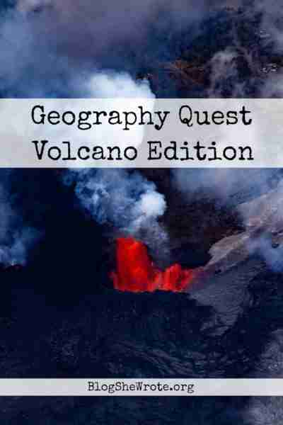Geography Quest Volcano Edition- looking down into a volcano dome to the lava
