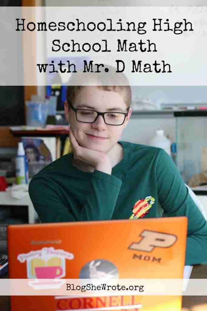 a teen boy at a laptop with a grin