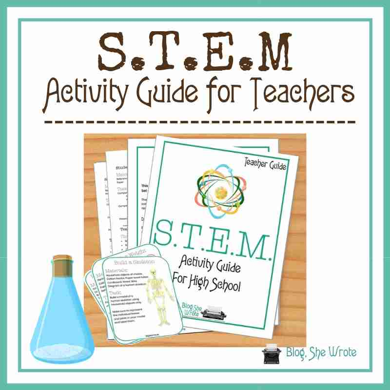 STEM Activity Guide for Teachers- picture of the guide with the task cards