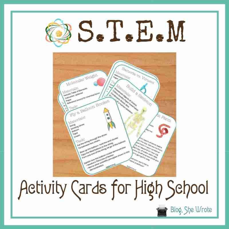 STEM cards on a table