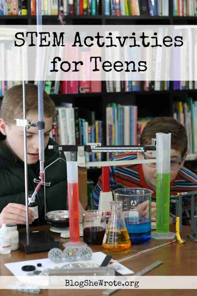 two teen boys measuring some liquids