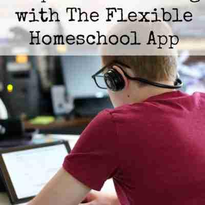 teen boy at a laptop doing school work