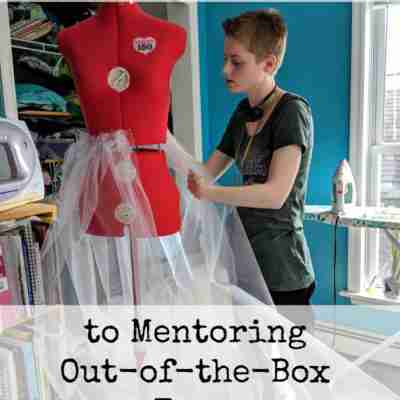 The Surprising Secret to Mentoring Out-of-the-Box Teenscollege girl standing at a dress form to put an underskirt on it