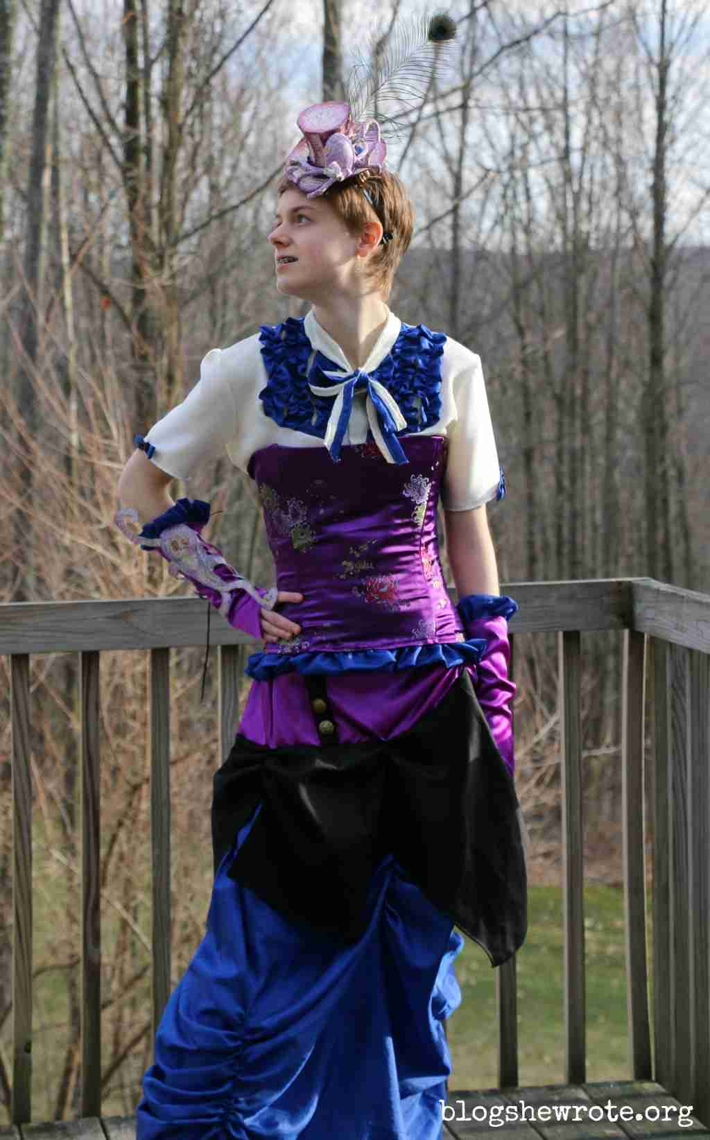 Homeschooling High School by Design- girl in steampunk dress