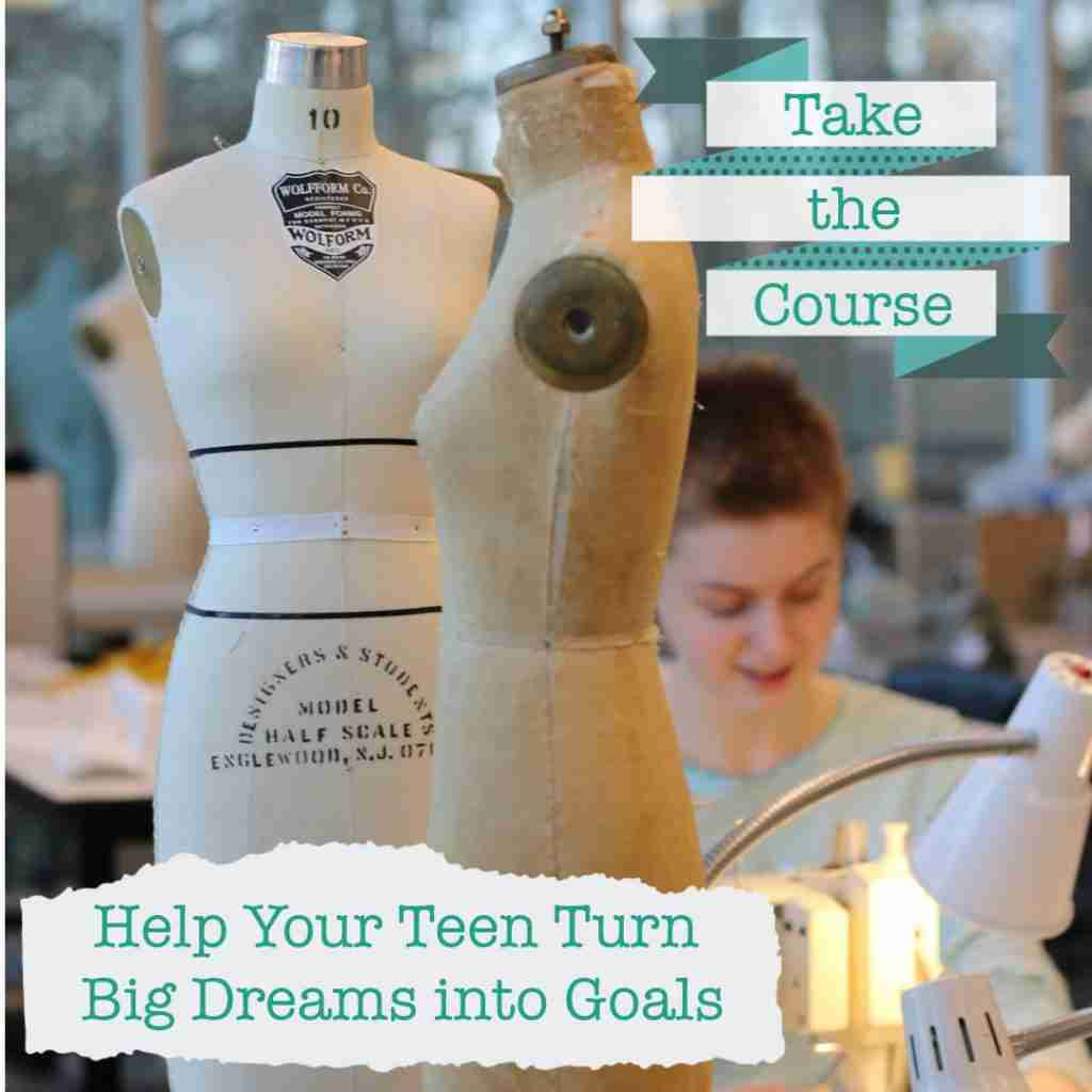 Dream Big & Take Action Course - college girl at a machine withdressform
