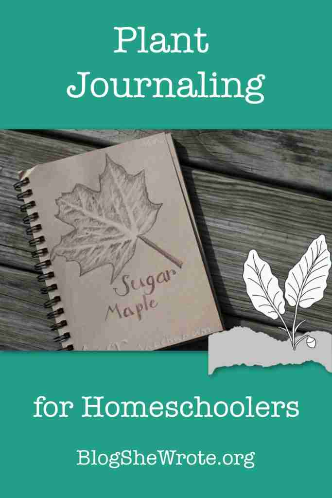 Plant Journaling for Homeschoolers Pin