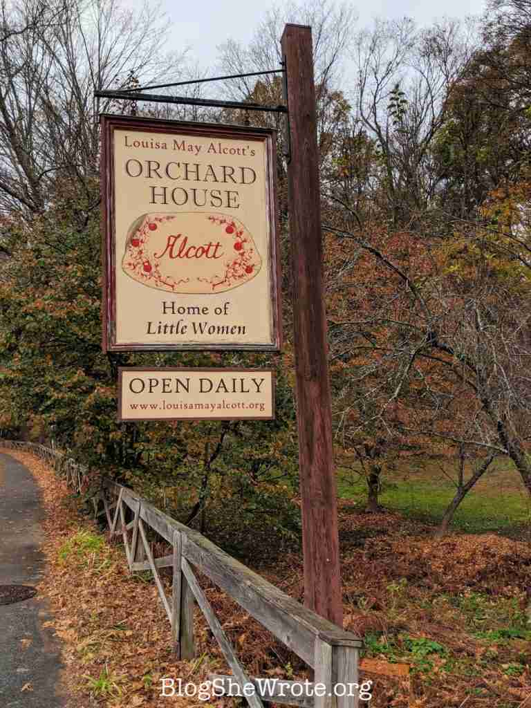 Why Little Women Isn't Just for Girls- Orchard House sign on the roadside