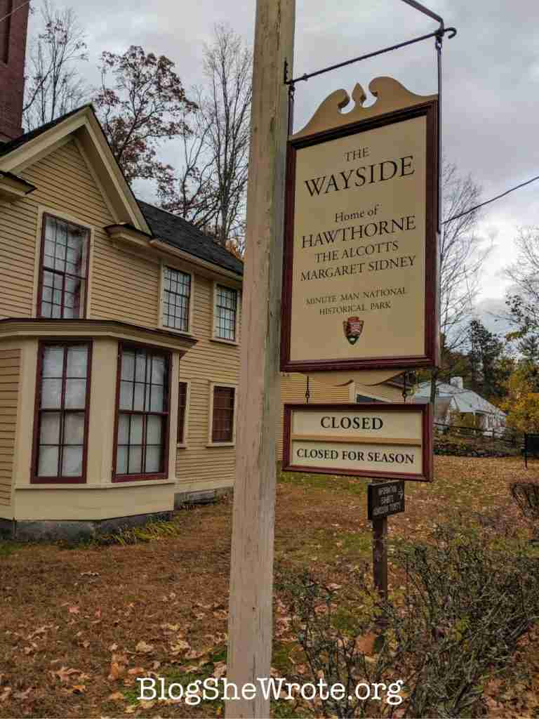 a home and sign in Concord, MA