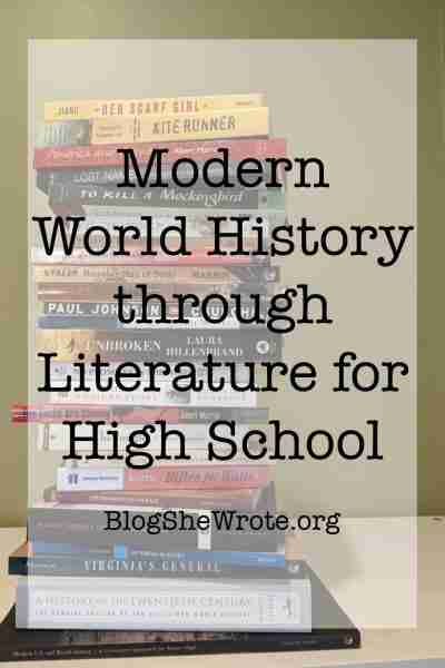 tall stack of history books with a plain background and the title on top